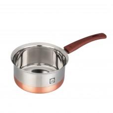 Eris 1.25 Liter Copper bottom Stainless Steel Saucepan ECSP596